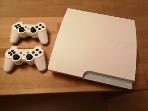 Sony PlayStation 3 Slimline White Edition 320GB PS3 mit 2 Controller
