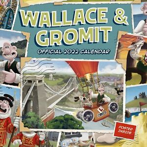 Wallace & Gromit 2022 Square Wall Calendar