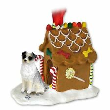 Australian Shepherd Blue Dog Ginger Bread House Christmas Ornament