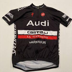 Castelli Cycling Jersey Audi Men's Large NWT Full zip