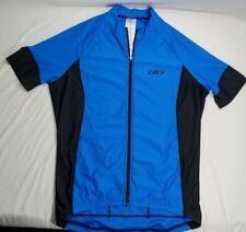 New ListingLouis Garneau Cycling Jersey Size Medium Full Zip Blue/Black Biking 3 Pockets