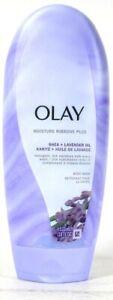 1 Bottle Olay 18 Oz Moisture Ribbons Plus Shea Lavender Oil Rich Moist Body Wash