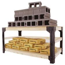 Work Bench Table Kit Garage Heavy Duty Shelves, Simple assembly, Black
