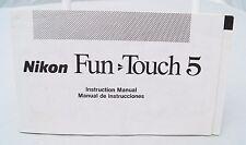 Nikon Fun Touch 5 35mm camera instruction manual English & Spanish
