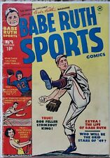 BABE RUTH SPORTS COMICS #4 VG 4.0 HARVEY 10/1949