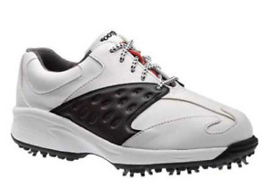 Footjoy Junior Golf Shoe Style 45087 Smooth Black / White NIB in sizes 2,4,5,6