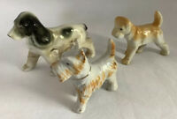 Made In Occupied Japan Made Ceramic/Porcelain Cute Dog Figurines - Set Of Three