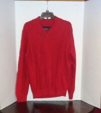 Nautica NEW Men's Size Large Red Shawl Neck Sweater $98