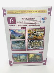 TCG Toys Art Gallery 6 Jigsaw Puzzle Family Pack SURE LOX PREMIUM QUALITY
