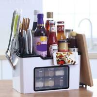 Multi-function Kitchen Rack Storage Holder Shelf With Drawer Storage Spice E4E0