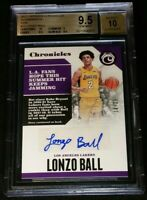 /25 LONZO BALL RC AUTO *BGS 9.5/10 *POP 3 PINK ROOKIE *2017-18 Panini Chronicles