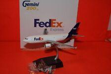 GEMINI JETS GJ2-861 FEDEX AIRBUS A310-300F reg N811FD1-200 SCALE +STAND