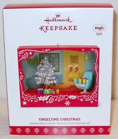 2017 Hallmark Keepsake Ornament Tinseltime Christmas Retro Scene Magic Lights Up
