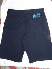 "Hurley~Black w Turquoise ""HURLEY"" Skater Shorts size 29"