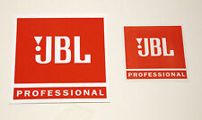 "New JBL Professional Small 4"" Orange and White Sticker Decal  Free Shipping!"