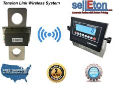 200,000 lbs  x 50 lb TENSION LINK WIRELESS HANGING CRANE SCALE OVERHEAD LOAD