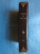 L'IMITATION DE JESUS CHRIST. Gruel Engelmann, 1886. Plein maroquin signé
