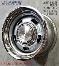 12 Slot XW XY XA GS GT GTHO Hubcap slotter rim mag Ford Wheel Cap Set x4  5