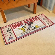 "Ohio State Buckeyes 30"" X 72"" Ticket Runner Area Rug Floor Mat"