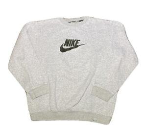 Vintage 2000s Nike Silver Tag Embroidered Symbol Gray Crewneck Sweatshirt Size L