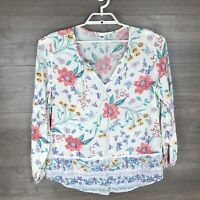 Old Navy Women's Size Large Floral Printed Blouse Top Long Sleeve