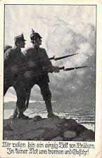 WW1 Era, German Propaganda, Soldier Mail, Old Postcard