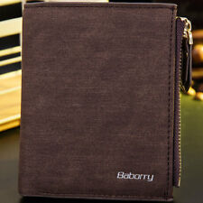 Men's Bifold Leather Wallet ID Credit Card Holder Coin Purse Short Money Clip