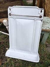 Vintage French Enamel Kitchen Utensil Rack with Drip Tray Kitchenalia