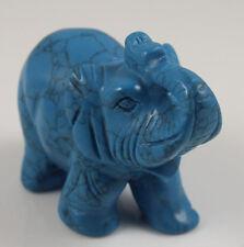 2.5 inch 1 PCS Turquoise Elephant,Gemstone Healing Orgone Reiki Feng Shui Grid