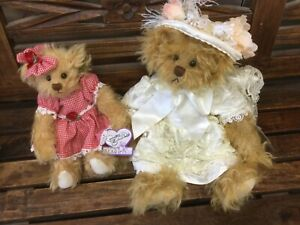 2 Beautiful Annette Funicello Mohair Bears