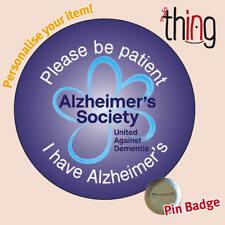 Please Be Patient ALZHEIMER'S Society Dementia Awareness Metal Navy Badge -  101