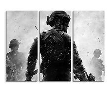130x90cm - Call Of Duty Modern Warefare Man Wandbild auf Leinwand Keilrahmen