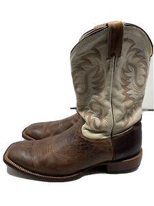 Nocona Men's Bull Shoulder Rancher Walnut Cheyenne Bullhide Square Toe Size 13 D