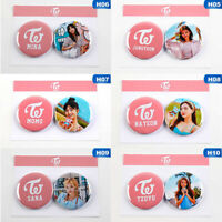 2PCS/SET KPOP TWICE Badges Tinplate Brooches Pins for Clothes Hat Backpack Tihkl