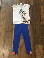 USED ONCE! Gymboree Outlet Toddler Girl 4T Two Piece Animal Print Outfit Clothes