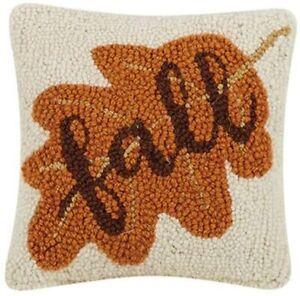 "Peking Handicraft - Fall 8"" x 8"" Hooked Pillow 31TG490C08SQ"