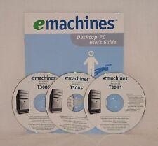 emachines Restore CD Version 1.1 T3085 3 Disc Set User Guide for the Desktop