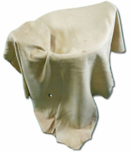"""White Tail Deer Rawhide Leather Size48""""X26"""" Buckskin Leather Veggie Tanned M-104"""