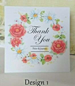 Thank you cards 4x4 Complete with Envelopes Pack of 10/WEDDINGS/GENERAL