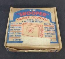 Selten The Snooper Geiger Zähler Modell 108 A Präzision Produkt Original Packung