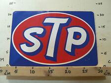 STICKER,DECAL LARGE STICKER STP OIL LOGO BIG SIZE 32 CM VINTAGE STICKER