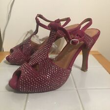 JEFFREY CAMPBELL Designer Shoes Handmade Leather Studded Xmas Party High Heels 5