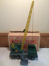 VINTAGE MARX LUMAR MOBILE CRANE TRUCK PRESSED STEEL TOY COMPLETE WITH BOX