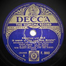NAUGHTON AND GOLD - IN SEARCH OF THE LOCH NESS MONSTER - 1930's 78rpm EDGE CHIP
