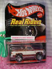 RLC Hot Wheels Real Riders '83 CHEVY SILVERADO 4X4✰Orange/White✰REDLINE CLUB