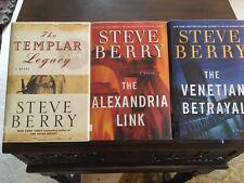 TEMPLAR LEGACY/ALEXANDRIA LINK/VENETIAN BETRAYAL, Steve Berry, SIGNED ,1sts HCDJ