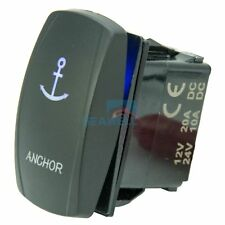 ANCHOR Rocker Switch LED Carling ARB Etched Boat Marine 7Pin (ON)-OFF-(ON) DPDT