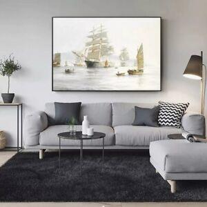 Seascape Pop Sea Ship Beyond The Ocean No2 Art Gift Wall Decor Poster, no Framed