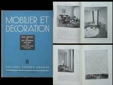 MOBILIER ET DECORATION N°8 1936 MAXIME OLD, MAURICE PICO, LOUIS BENJAMIN GOMEZ