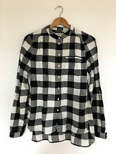 Women's COUNTRY ROAD Black/Cream Check Long Sleeve Cotton Shirt SIZE XS